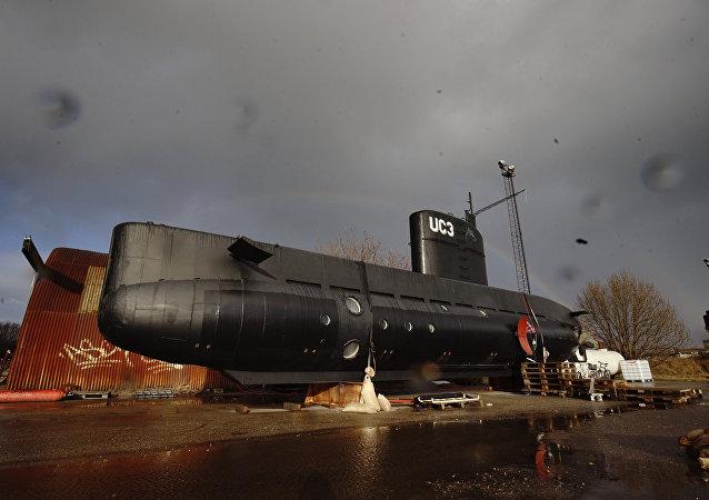 丹麥警方為調查女記者死因使用掃描儀對「鸚鵡螺號」潛艇進行排查
