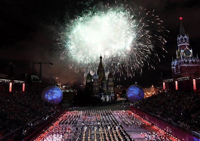 第十屆「斯巴斯卡亞塔樓」國際軍樂節27日在紅場開幕