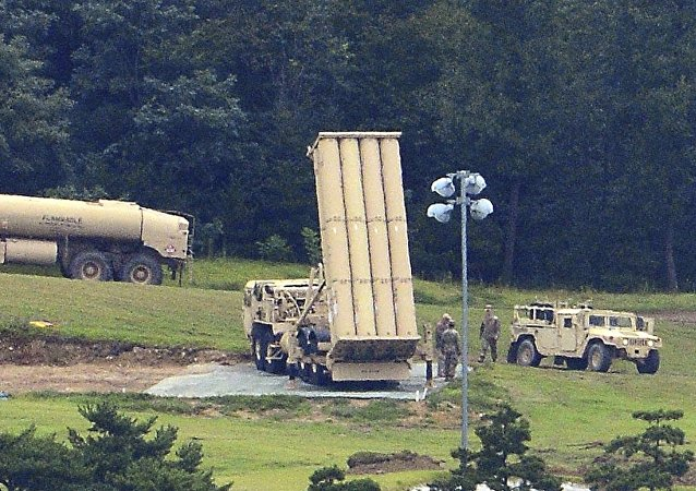 美國薩德反導系統在韓國