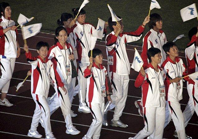 最後一批參加冬奧會的朝鮮運動員抵達韓國