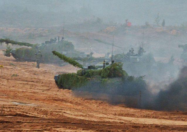 俄羅斯和白俄羅斯官兵聯合演習