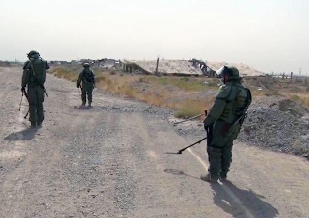 敘工程兵繼續在霍姆斯省排雷