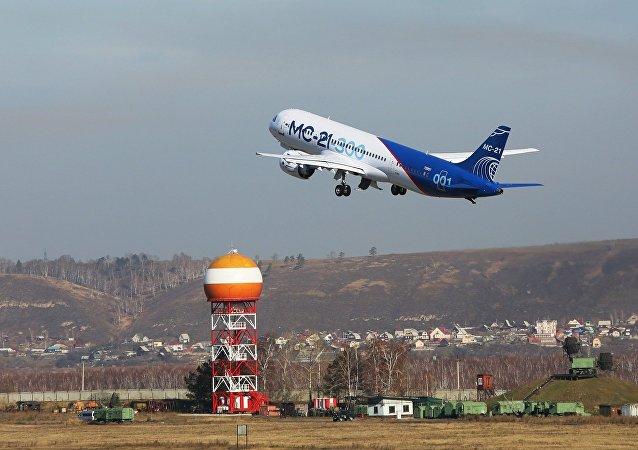 俄制MS-21客機完成伊爾庫茨克至莫斯科近郊茹科夫斯基的首飛