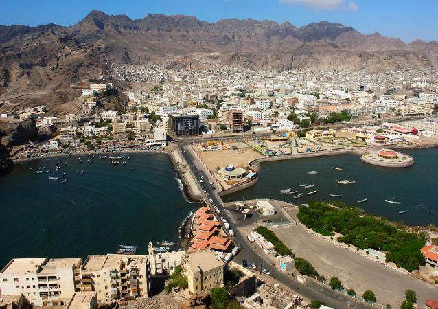 Вид на йеменский город Аден
