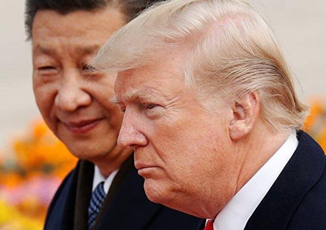 中國國家主席習近平與美國總統特朗普