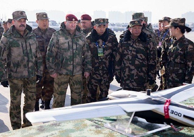俄國民衛隊和中國武警完成「合作2017」演習的關鍵階段