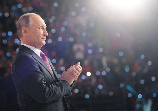 普京仍為2018年1月份俄羅斯最具影響力政治家