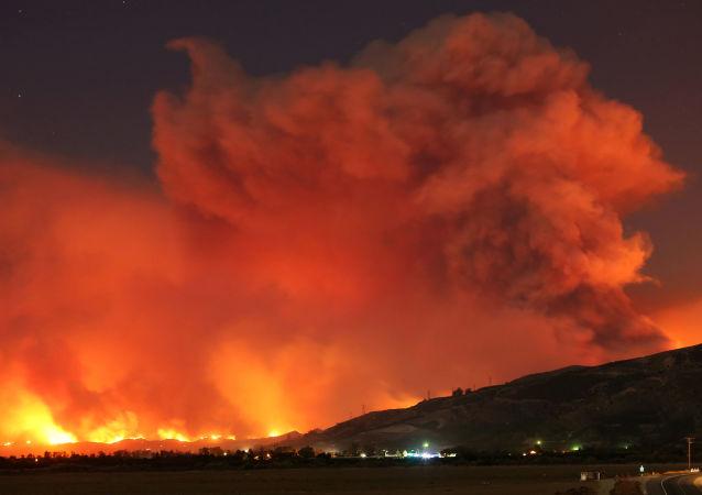加利福尼亞州森林火災(資料圖片)