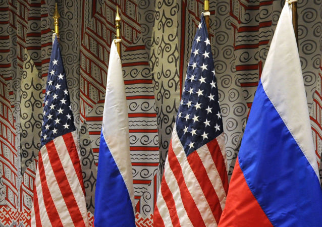 俄羅斯、美國國旗