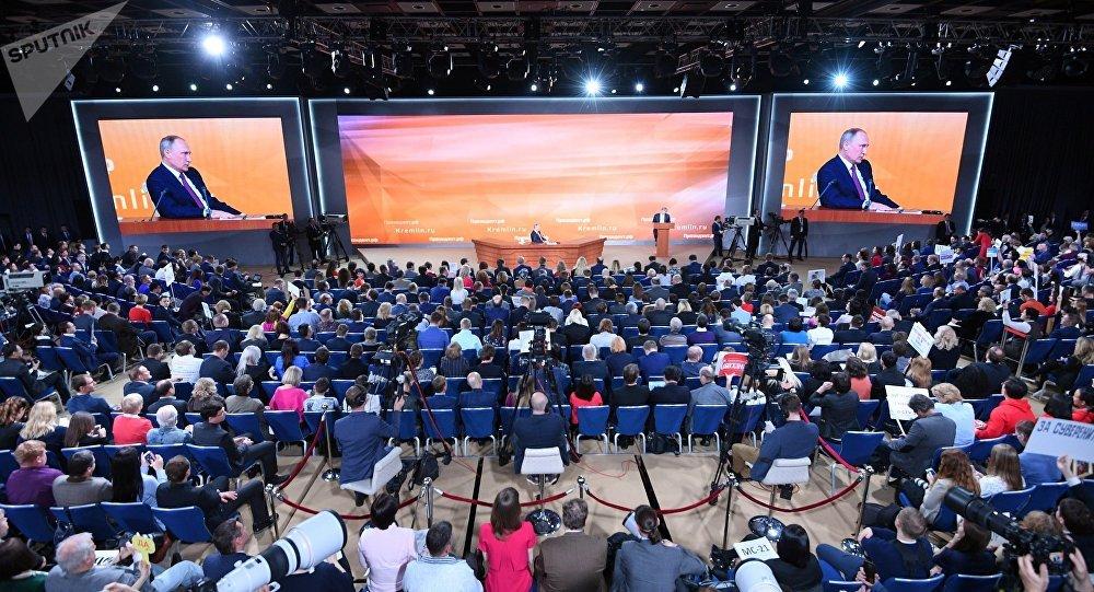 克宮:普京為準備年度大型記者會工作到深夜