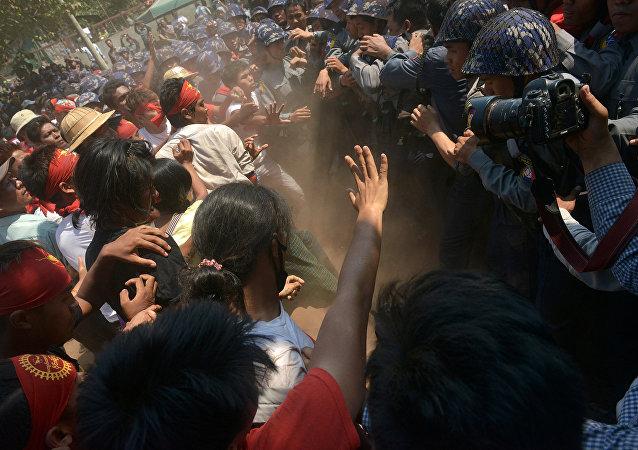 緬甸若開邦示威衝突