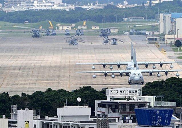 日本沖繩島的美國基地