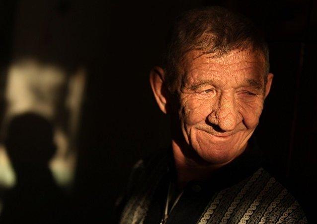 俄羅斯養老院的一名老人