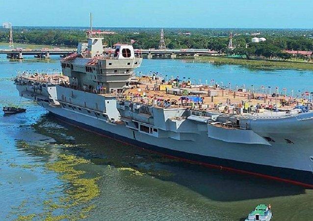 印度國防部稱「維克蘭特」號航母成功進行系泊試驗