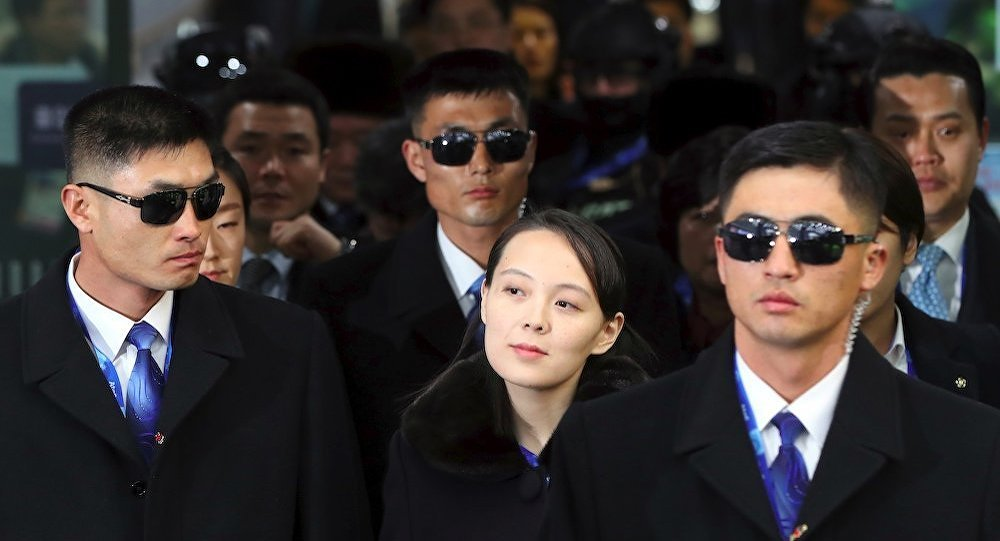 朝鮮領導人金正恩的胞妹金與正訪問