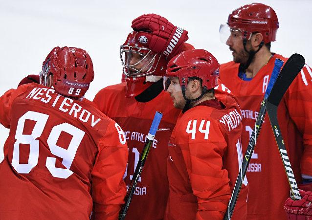 俄羅斯冰球隊擊敗斯洛文尼亞隊