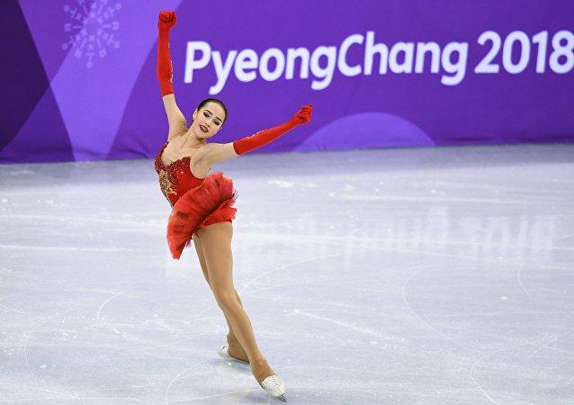 俄女子花樣滑冰選手扎吉托娃被迫中斷冬奧會賽場訓練
