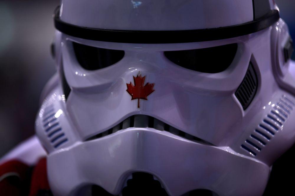 冰球比賽上的加拿大觀眾