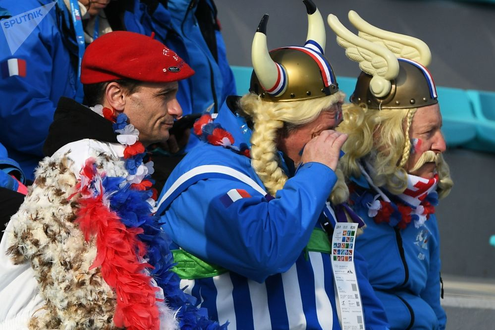 冬奧會上來自法國的觀眾