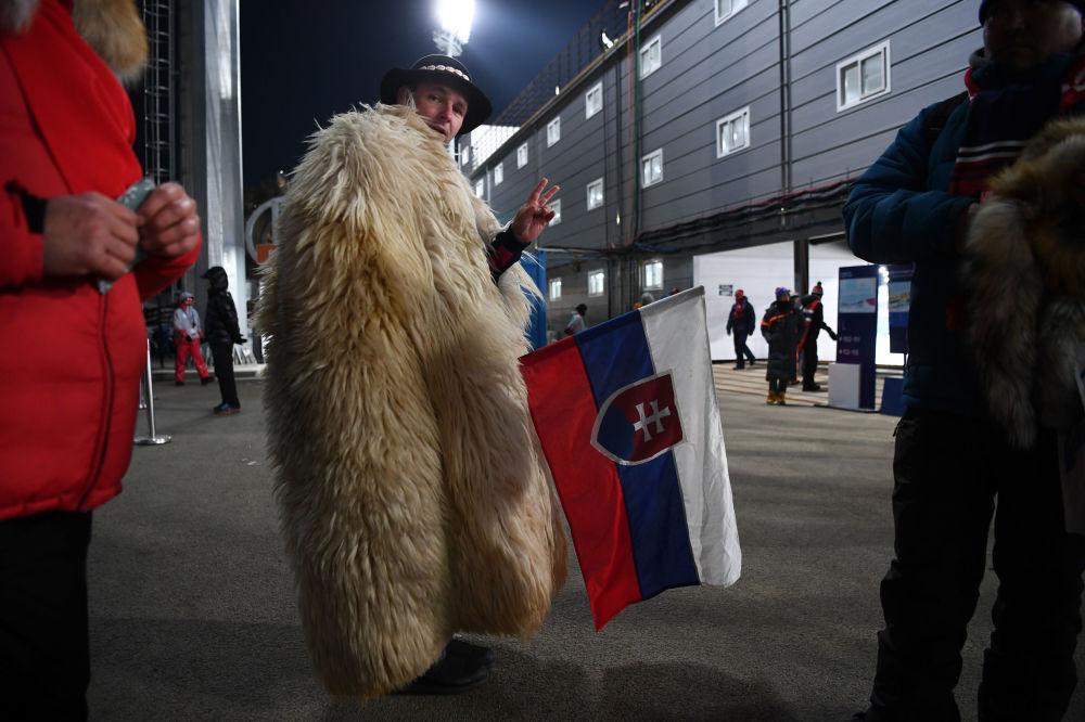 第二十三屆冬季奧運會上來自斯洛伐克的觀眾