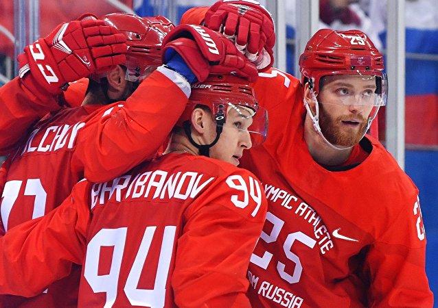 冬奧會男子冰球俄羅斯大敗挪威殺入半決賽