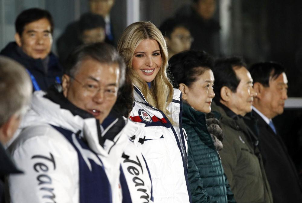伊萬卡·特朗普在冬奧會閉幕式上