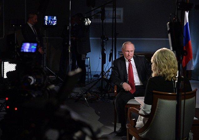 普京在接受美國電視台NBC採訪時