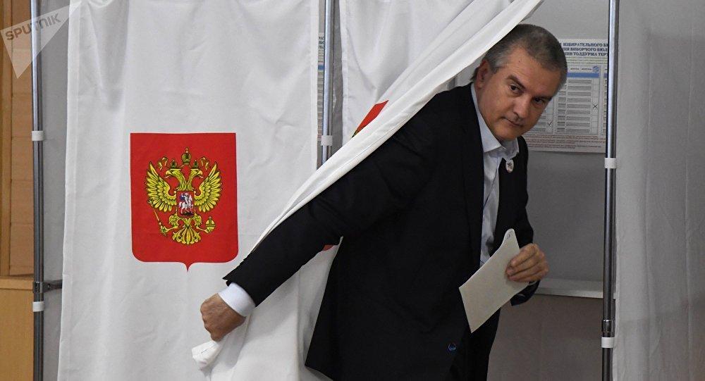克里米亞領導人把俄總統選舉與2014年全民公投相提並論