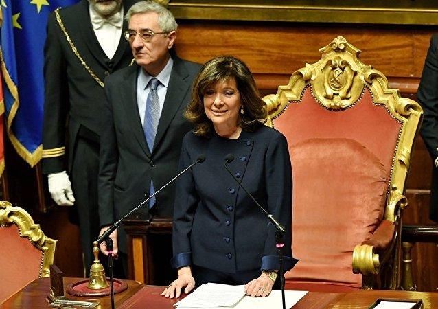 女性首次當選意大利參議院主席