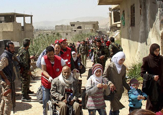 128名平民31日成功撤離敘利亞東古塔區