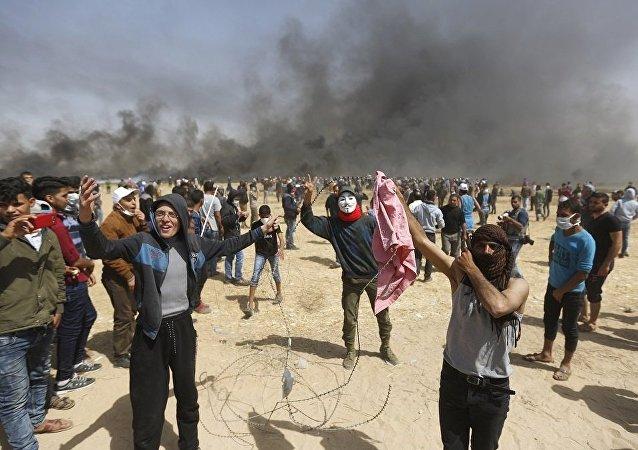 加沙地帶邊境衝突造成3名巴勒斯坦人死亡約190人受傷