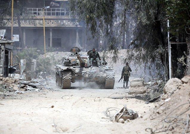 敘利亞軍隊在古塔鎮一年內清除超過100噸彈藥