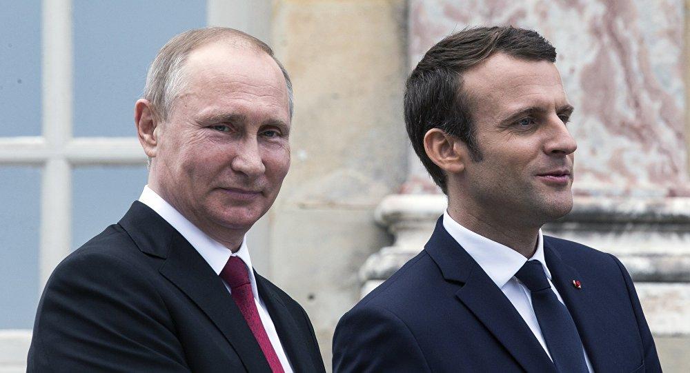 俄羅斯總統普京與法國總統馬克龍