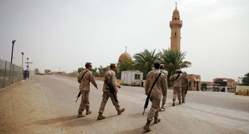美國軍人在約旦