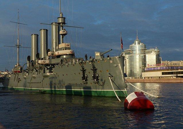 聖彼得堡的「阿芙樂爾」號巡洋艦博物館