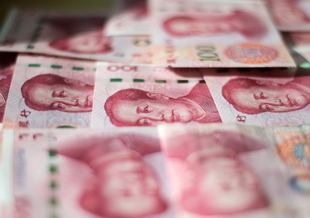 Chinese 100 yuan notes in Beijing