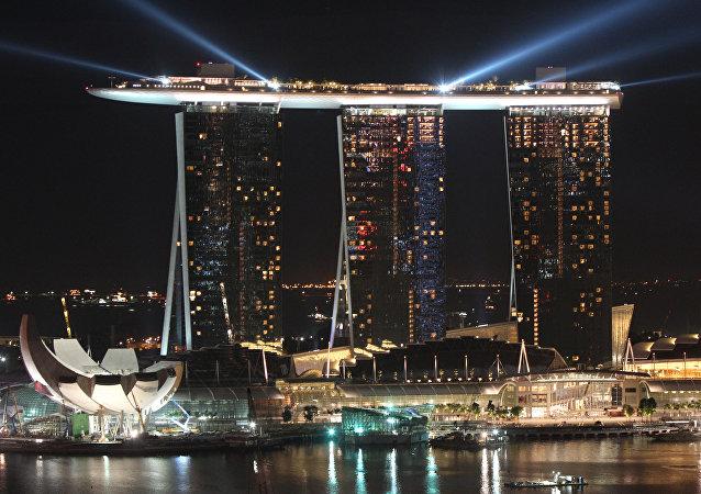 新加坡為金特會發行紀念幣 (圖片)