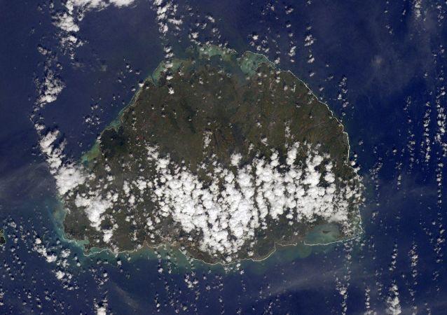 毛里求斯島的航天照片