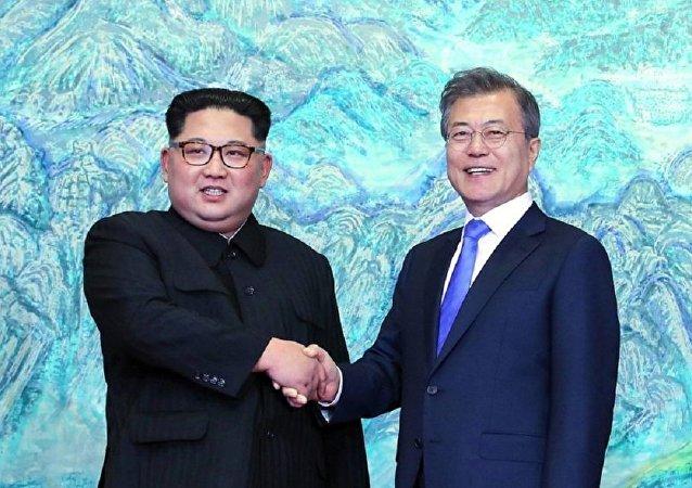 朝韓領導人首次會晤