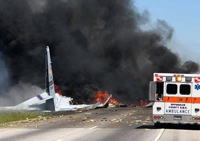 美國C-130飛機失事