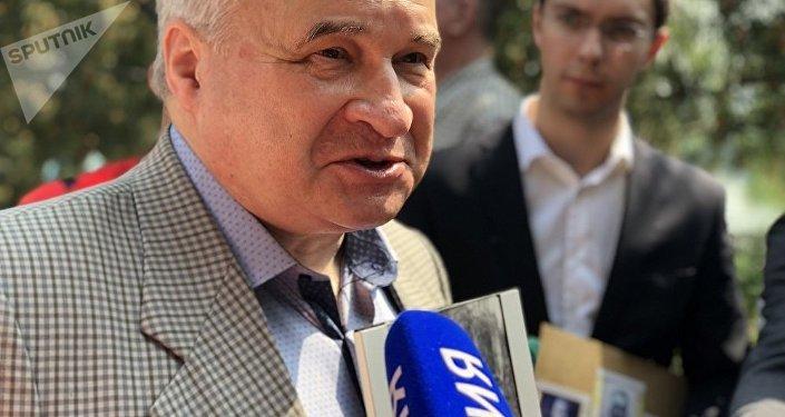 俄羅斯駐華大使安德烈·傑尼索夫參加「不朽軍團」活動