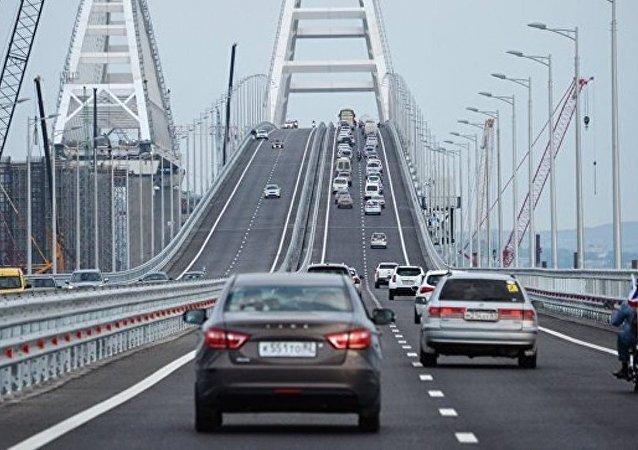 克里米亞大橋開通兩月通車逾百萬輛