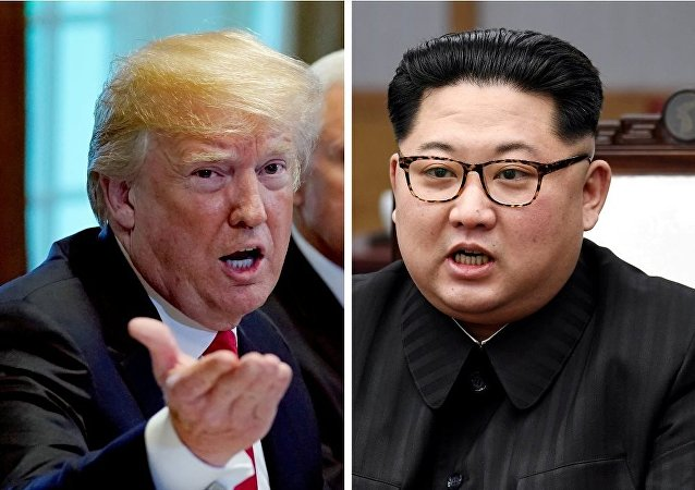 A combination photo shows U.S. President Donald Trump and North Korean leader Kim Jong Un