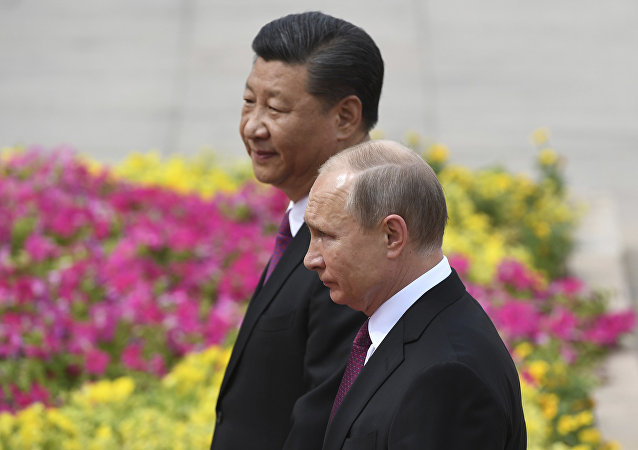 普京在與習近平會晤時稱俄中合作關係達到前所未有的水平