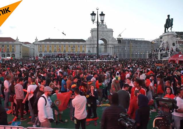 葡萄牙球迷大屏幕觀戰