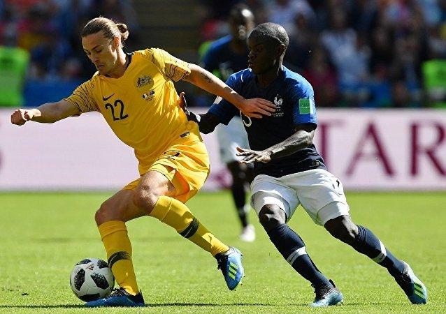 2018世界杯賽法國隊戰勝澳大利亞隊