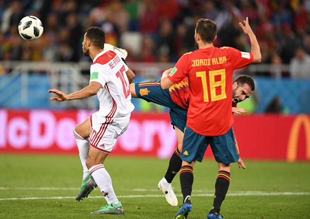 世界杯小組賽西班牙與摩洛哥戰平