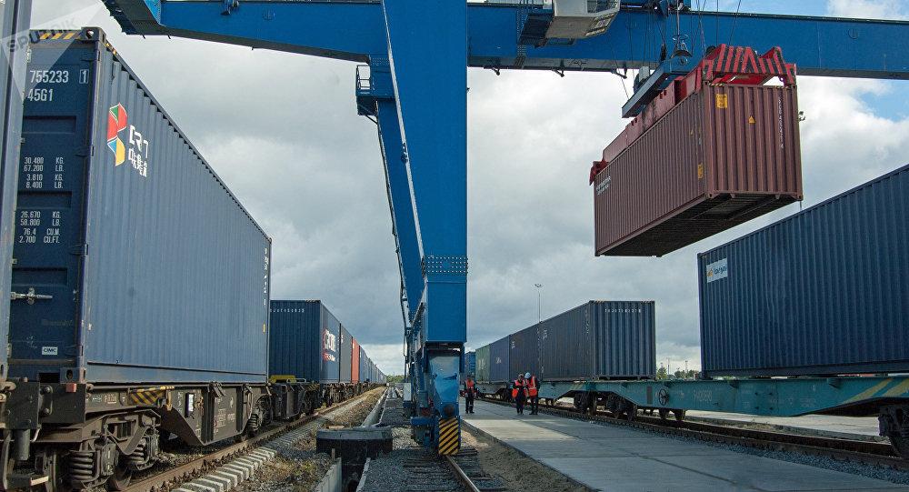 中國山東四地貨物搭乘「齊魯號」歐亞班列發往莫斯科和中亞等地