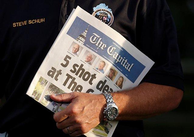 美國馬里蘭州一報社槍擊案後新一期刊發行