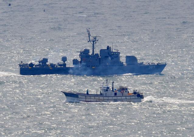 韓國軍方扣留越境朝鮮船隻